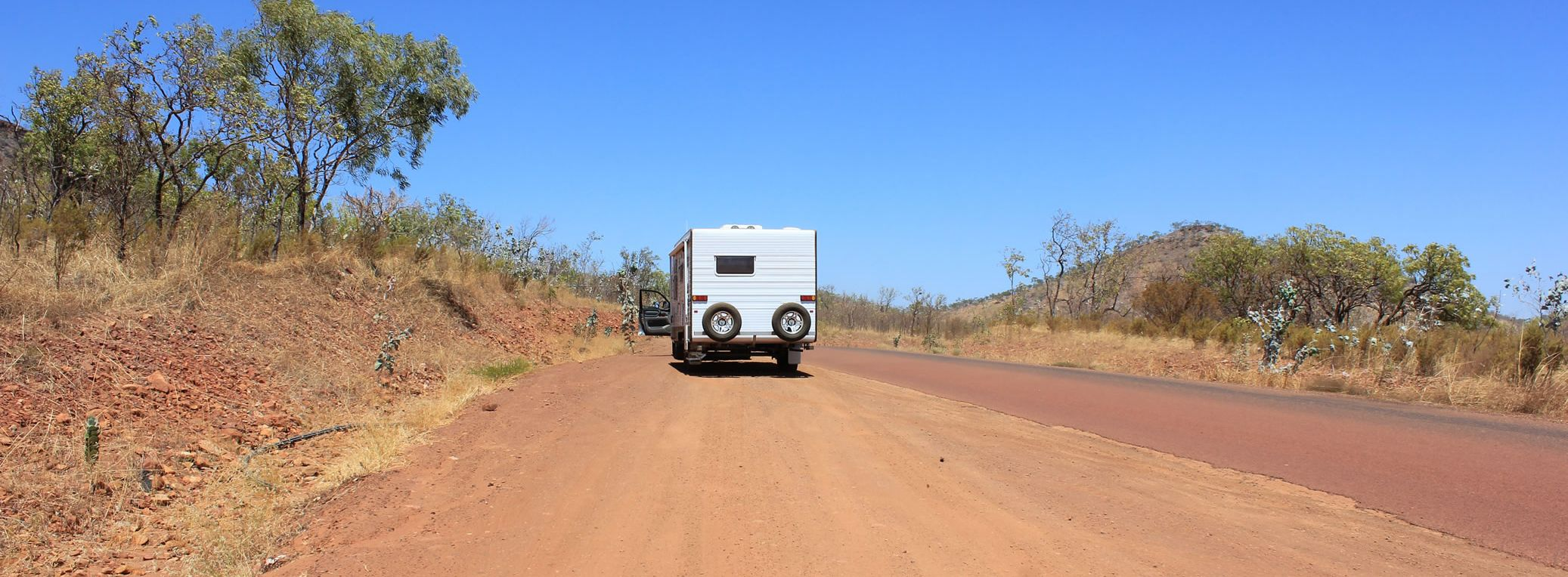 Caravan in the outback