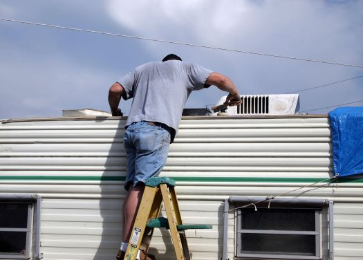 Repair My Caravan Roof Leak Cladding Aluminium Water Leak
